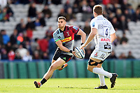 James Lang of Harlequins looks to pass the ball. Gallagher Premiership match, between Harlequins and Gloucester Rugby on March 10, 2019 at the Twickenham Stoop in London, England. Photo by: Patrick Khachfe / JMP