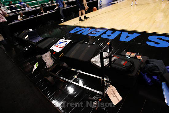 Trent Nelson  |  The Salt Lake Tribune.Salt Lake City - Butler, NCAA West Regional college basketball practice Wednesday, March 24, 2010. sports illustrated equipment load