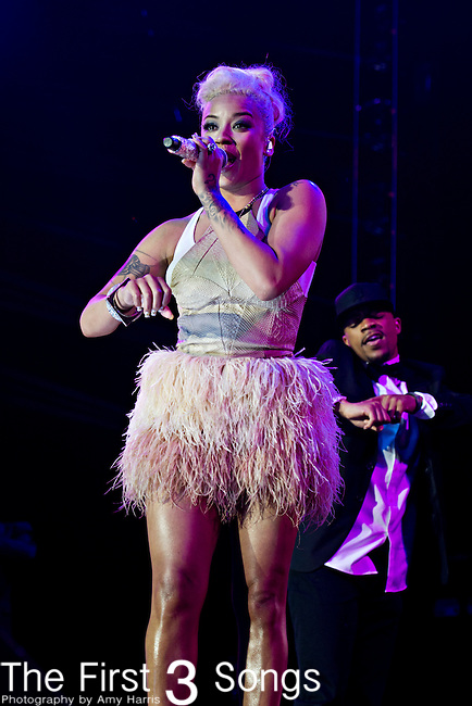 Keyshia Cole performs at the 2013 Essence Festival at the Mercedes-Benz Superdome in New Orleans, Louisiana.