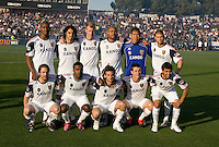 Real Salt Lake Starting XI pose together for group photo before the game against the Earthquakes at Buck Shaw Stadium in Santa Clara, California on March 27th, 2010.   Real Salt Lake defeated San Jose Earthquakes, 3-0.