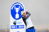 Ricardo Gouveia (POR) on the 4th tee during Round 1 of the Open de Espana 2018 at Centro Nacional de Golf on Thursday 12th April 2018.<br /> Picture:  Thos Caffrey / www.golffile.ie<br /> <br /> All photo usage must carry mandatory copyright credit (&copy; Golffile | Thos Caffrey)