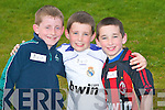 MEDALS: Competing for medals at the Rock Street/Caherslee community games at Mercy Mounthawk School on Friday l-r: Sean Carmody, Kieran and Aidan Manning all from Caherslee.   Copyright Kerry's Eye 2008
