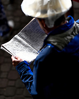 LOUISVILLE, KY - MAY 06: A man looks at the racing program on Kentucky Derby Day at Churchill Downs on May 6, 2017 in Louisville, Kentucky. (Photo by Scott Serio/Eclipse Sportswire/Getty Images)