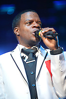 MIAMI, FL - MAY 05: Ricky Bell of New Edition performs at the Bank United Center in support of their  tour 'Road To the 30th' on May 5, 2012 in Miami, Florida.  (photo by: MPI10/MediaPunch Inc.)
