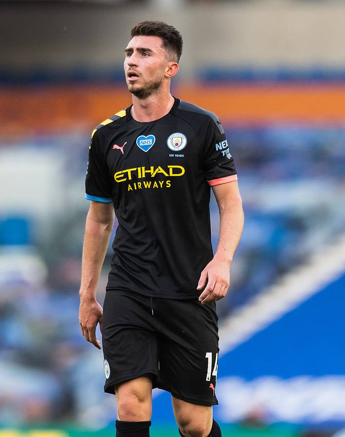 Manchester City's Aymeric Laporte <br /> <br /> Photographer David Horton/CameraSport<br /> <br /> The Premier League - Brighton & Hove Albion v Manchester City - Saturday 11th July 2020 - The Amex Stadium - Brighton<br /> <br /> World Copyright © 2020 CameraSport. All rights reserved. 43 Linden Ave. Countesthorpe. Leicester. England. LE8 5PG - Tel: +44 (0) 116 277 4147 - admin@camerasport.com - www.camerasport.com