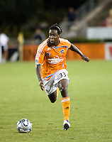 Houston Dynamo forward Joseph Ngwenya (33). The Houston Dynamo tied the Columbus Crew 1-1 in a regular season MLS match at Robertson Stadium in Houston, TX on August 25, 2007.