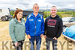 Karen Sheehan (Tournafulla),  John McElligott (Listowel) and Joe Power (Knocknagoshel) enjoying the day at the Vintage Rally in Kilflynn on Sunday
