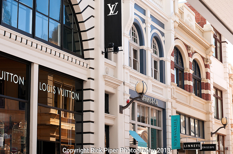 King Street - Louis Vuitton and Tiffany & Co shopfronts, King Street, Perth, Western Australia