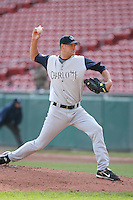 May 5th 2008:  Rob Bell of the Charlotte Knights, Class-AAA affiliate of the Chicago White Sox, delivers a pitch during a game at Dunn Tire Park in Buffalo, NY.  Photo by Mike Janes/Four Seam Images
