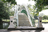 Bedford, UK - Suspension Bridge over the River Great Ouse -  A selection of views of the county town of Bedford, England - 15th September 2012..Photo by Keith Mayhew