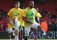 Ashley Williams of Swansea City warms up before the Barclays Premier League match between AFC Bournemouth and Swansea City played at The Vitality Stadium, Bournemouth on March 11th 2016