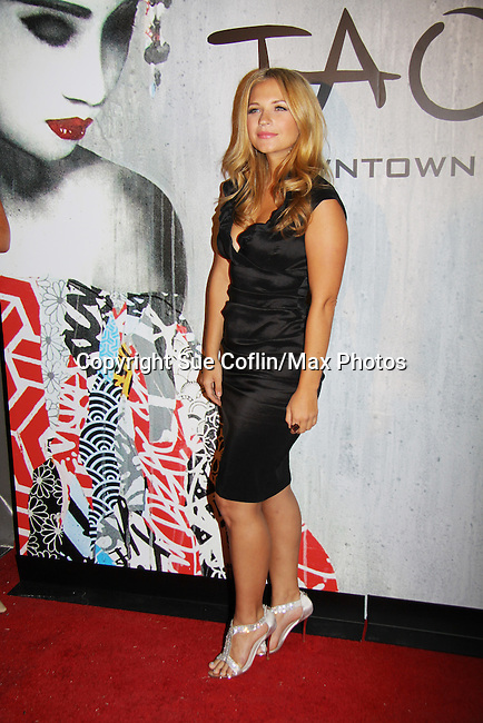 As The World Turns' Vanessa Ray at TAO Downtown Grand Opening NYC on September 28, 2013 in New York City, New York.  (Photo by Sue Coflin/Max Photos)