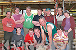 Patrick Moran gives a sheep shearing demonstration to apprentices in Milltown Mart last Monday were l-r front row Sheera Dalton-O'Neill, Denis O'Sullivan, Paudie O'Sullivan, Patrick Moran, Breda Lynch, back row Paddy O'Connor, Conor Browne, Patrick Moriarty, Martin O'Shea, Mike Murphy, Martin O'Connor, Sean Moriarty and Catriona Dalton-O'Neill