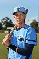 Charlotte Stone Crabs third baseman Tyler Goeddel (5) poses for a photo before a game against the Palm Beach Cardinals on April 12, 2014 at Charlotte Sports Park in Port Charlotte, Florida.  Palm Beach defeated Charlotte 6-2.  (Mike Janes/Four Seam Images)