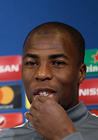 Football Soccer - Monaco Press Conference- Uefa Champions League, Juventus stadium, Turin, Italy, May 8, 2017.<br /> Monaco's Djibril Sidib&eacute; during the press conference before the semifinal against Juventus.