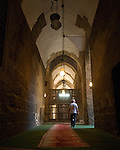 Cairo, Egypt -- Light streams from a side alcove window to illuminate the entrance hallway, entering the Sultan Hassan mosque. © Rick Collier / RickCollier.com.