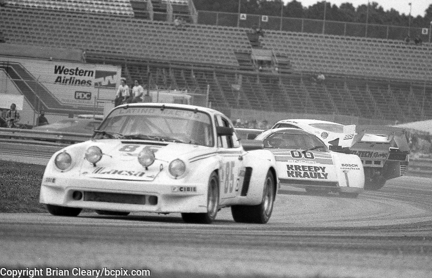 The #85 Porsche Porsche 911 Carrera RSR of Kikos Fonseca, Carlos Fallas, and Enrique Molins races to a 57th place finish in the SunBank 24 at Daytona, Daytona International Speedway, Daytona Beach, FL, Feb. 4-5, 1984. (Photo by Brian Cleary/www.bcpix.com)