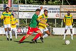 2018-07-28 / Voetbal / seizoen 2018 -2019 / KFC Houtvenne - VK. ST-Aghatha-Berchem/ Glenn Van Asten (l.KFC Houtvenne) met Bader El Azzaoui ,Foto: Mpics.be