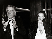 Montreal (Qc) CANADA -1986 File Photo - gilles carle, chloee sainte-marie<br /> <br /> PHOTO :  Agence Quebec Presse