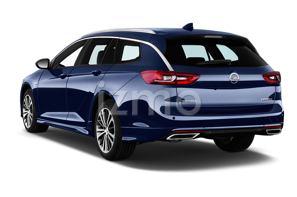 Car pictures of rear three quarter view of a 2018 Opel Insignia Sports Tourer Dynamic 5 Door Wagon angular rear