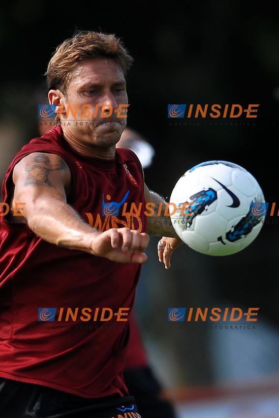 Francesco TOTTI Roma.Roma 2/9/2011 Centro Sportivo Trigoria.Football Calcio 2011/2012.Allenamento AS Roma.Foto Insidefoto Andrea Staccioli