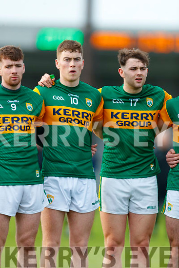 Barry Mahony, Kerry Ronan Buckley, Kerry Sean O Connell, Kerry before the 2020 McGrath Cup Group B match between Kerry and Cork at Austin Stack Park in Tralee, Kerry.