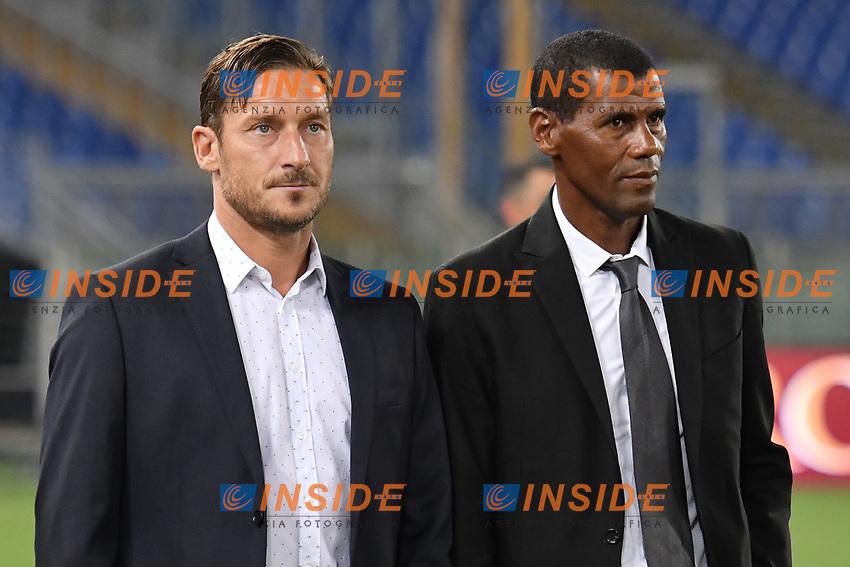 Francesco Totti e Aldair <br /> Roma 01-09-2017 Stadio Olimpico Football Friendly match AS Roma - Chapecoense Foto Andrea Staccioli / Insidefoto