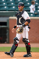 Chattanooga catcher J.C. Boscan (18) on defense versus Mississippi at AT&T Field in Chattanooga, TN, Wednesday, July 25, 2007.