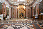 """The interior of this ancient basilica was once part of the biggest """"terme"""" in ancient Rome - Terme di Diocleziano. It was transformed into the S. Maria degli Angeli and dei Martiri church in XVI century according to Michelangelo project. This ancient basilica is standing beside Piazza della Repubblica in Rome, Italy.   ."""
