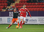 Charlton's Fredrik Ulvestad tussles with Sheffield United's John Fleck during the League One match at the Valley Stadium, London. Picture date: November 26th, 2016. Pic David Klein/Sportimage