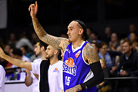 Saints&rsquo; Leon Henry in action during the NBL - Wellington Saints v Hawkes Bay Hawks  at TSB Bank Arena, Wellington, New Zealand on Friday 11 May 2018.<br /> Photo by Masanori Udagawa. <br /> www.photowellington.photoshelter.com