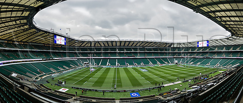 27.02.2016. Twickenham, London, England. RBS Six Nations Championships. England versus Ireland. The ground looking splendid before fans arrive