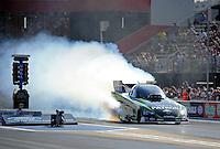 Jun. 15, 2012; Bristol, TN, USA: NHRA funny car driver Alexis DeJoria during qualifying for the Thunder Valley Nationals at Bristol Dragway. Mandatory Credit: Mark J. Rebilas-