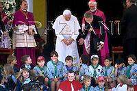 ..Pope Benedict XVI  during his Angelus prayer in Bressanone, Aug. 10, 2008..