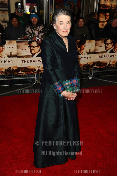 "Patti Lomax arrives for the UK premiere of ""The Railway Man"" at the Odeon West End, Leicester Square, London. 04/12/2013 Picture by: Steve Vas / Featureflash"
