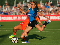 Kansas City, MO - Sunday July 02, 2017:  Brittany Ratcliffe attempts a shot during a regular season National Women's Soccer League (NWSL) match between FC Kansas City and the Houston Dash at Children's Mercy Victory Field.