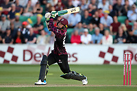 Ed Byrom hits 6 runs for Somerset during Essex Eagles vs Somerset, Vitality Blast T20 Cricket at The Cloudfm County Ground on 7th August 2019