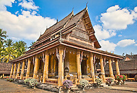 A beautiful example of Laotian architecture, this building is used for the ordination of Buddhist monks. (Photo by Matt Considine - Images of Asia Collection)