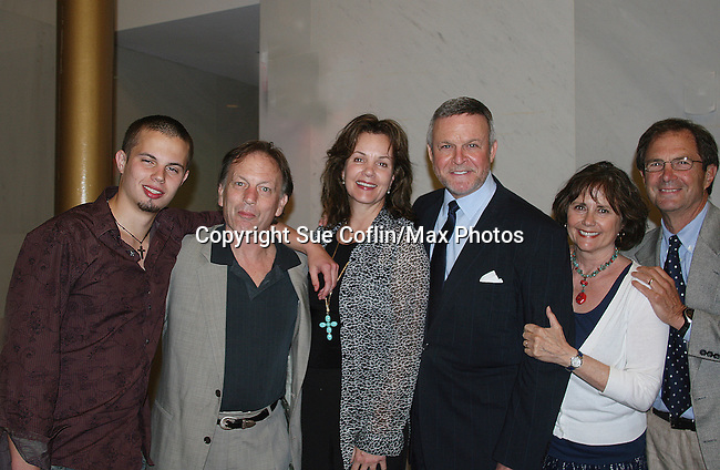 Castmates Justin Deas, wife Margaret Colin (ATWT) and son Sam and along with GL's Peter Simon and wife Courtney came to see Guiding Light's Ron Raines as he headlines at Broadway Up Close and Personal: A Tribute to Frank Loesser on May 3, 2010 at the John F. Kennedy Center for the Performing Arts, Washington DC.  (Photo by Sue Coflin/Max Photos)