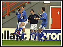 5/10/02       Copyright Pic : James Stewart                     .File Name : stewart-hamilton v stranraer 08.LEE SHARPE IS CONGRATULATED BY JAOHN FALLON AND SANDU HODGE AFTER HE SCORED THE FIRST FPOR STRANRAER....James Stewart Photo Agency, 19 Carronlea Drive, Falkirk. FK2 8DN      Vat Reg No. 607 6932 25.Office : +44 (0)1324 570906     .Mobile : + 44 (0)7721 416997.Fax     :  +44 (0)1324 570906.E-mail : jim@jspa.co.uk.If you require further information then contact Jim Stewart on any of the numbers above.........