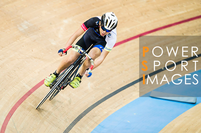 Wong Chi Lam of CMS in action during the Youth Qualifying (200M Flying Start) at the Hong Kong Track Cycling Race 2017 Series 5 on 18 February 2017 at the Hong Kong Velodrome in Hong Kong, China. Photo by Marcio Rodrigo Machado / Power Sport Images