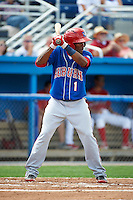 Auburn Doubledays outfielder Narciso Mesa #1 during a NY-Penn League game against the Batavia Muckdogs at Dwyer Stadium on September 3, 2012 in Batavia, New York.  Auburn defeated Batavia 5-3.  (Mike Janes/Four Seam Images)