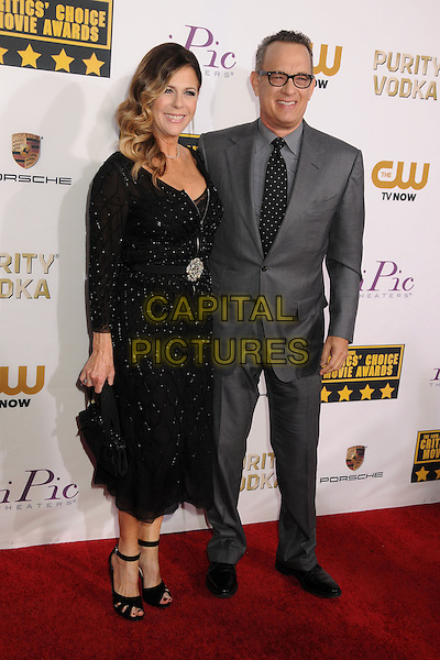 LOS ANGELES, CA - JANUARY 16 - Rita Wilson, Tom Hanks. 19th Annual Critics' Choice Movie Awards held at Barker Hangar.<br /> CAP/ADM/BP<br /> &copy;Byron Purvis/AdMedia/Capital Pictures