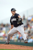 Pitcher Preston Claiborne (38) of the New York Yankees during a spring training game against the Pittsburgh Pirates on February 26, 2014 at McKechnie Field in Bradenton, Florida.  Pittsburgh defeated New York 6-5.  (Mike Janes/Four Seam Images)