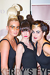Mags Kelleher Rathmore, Aoife Begley Knocknagoshel and Jennifer Lenihan Killarney from the Norma O'Donoghue modelling agency who strutted their stuff at the Kerry Fashion Week fashion show in Jack's restaurant Cromane on Thursday evening..