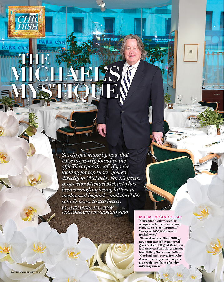 Michael McCarty founder of Michael's restaurant