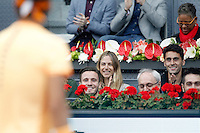 Atletico de Madrid's Saul Niguez, spanish model Matina Klein and Real Madrid's Alvaro Arbeloa during Madrid Open Tennis 2016 match.May, 6, 2016.(ALTERPHOTOS/Acero) /NortePhoto