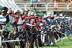 Saori Nagamine (JPN),<br /> AUGUST 5, 2016 - Archery : <br /> Women's Individual Ranking Round <br /> at Sambodromo<br /> during the Rio 2016 Olympic Games in Rio de Janeiro, Brazil. <br /> (Photo by Koji Aoki/AFLO SPORT)