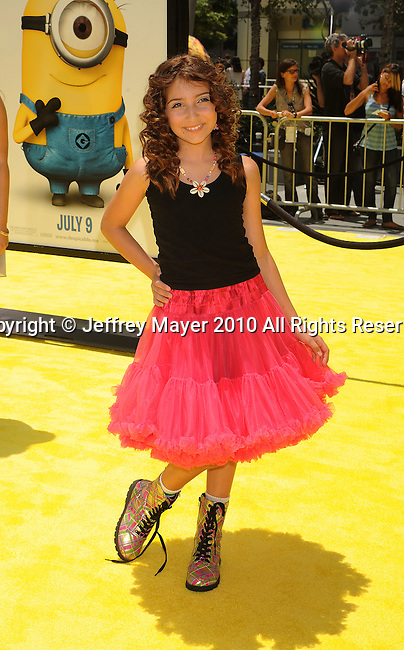 "LOS ANGELES, CA. - June 27: Jennessa Rose arrives at the 2010 Los Angeles Film Festival - ""Despicable Me"" Premiere on June 27, 2010 in Los Angeles, California."