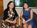 Rita Curran and Dorothy Cooney at the Captain's dinner at Seapoint Golf Club. Photo:Colin Bell/pressphotos.ie